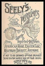 Angel Perfumes the World Seely's Perfumes Odor not Scent 1893 Print Ad - $14.99