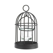 Iron Candle Holder, Mini Metal Standing Candle Holder Cage - $17.69