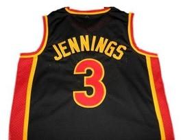 Brandon Jennings #3 Oak Hill High School Basketball Jersey Black Any Size image 5