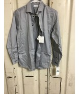 Calvin Klein Boys Long Sleeve gray button down collared Shirt NEW WITH TAGS - $14.08