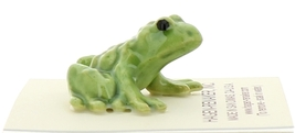 Hagen-Renaker Miniature Ceramic Frog Figurine Tiny Papa Frog and Baby Frog Set image 10