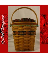Longaberger Vtg. 1993 Shades of Autumn Wall Basket w/ Liner & Protector - $44.54