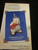 HALLMARK KEEPSAKE ORNAMENT 2003 SNOWSHOE SHOW SHOE TAXI SNOWBALL AND FRI... - $9.99