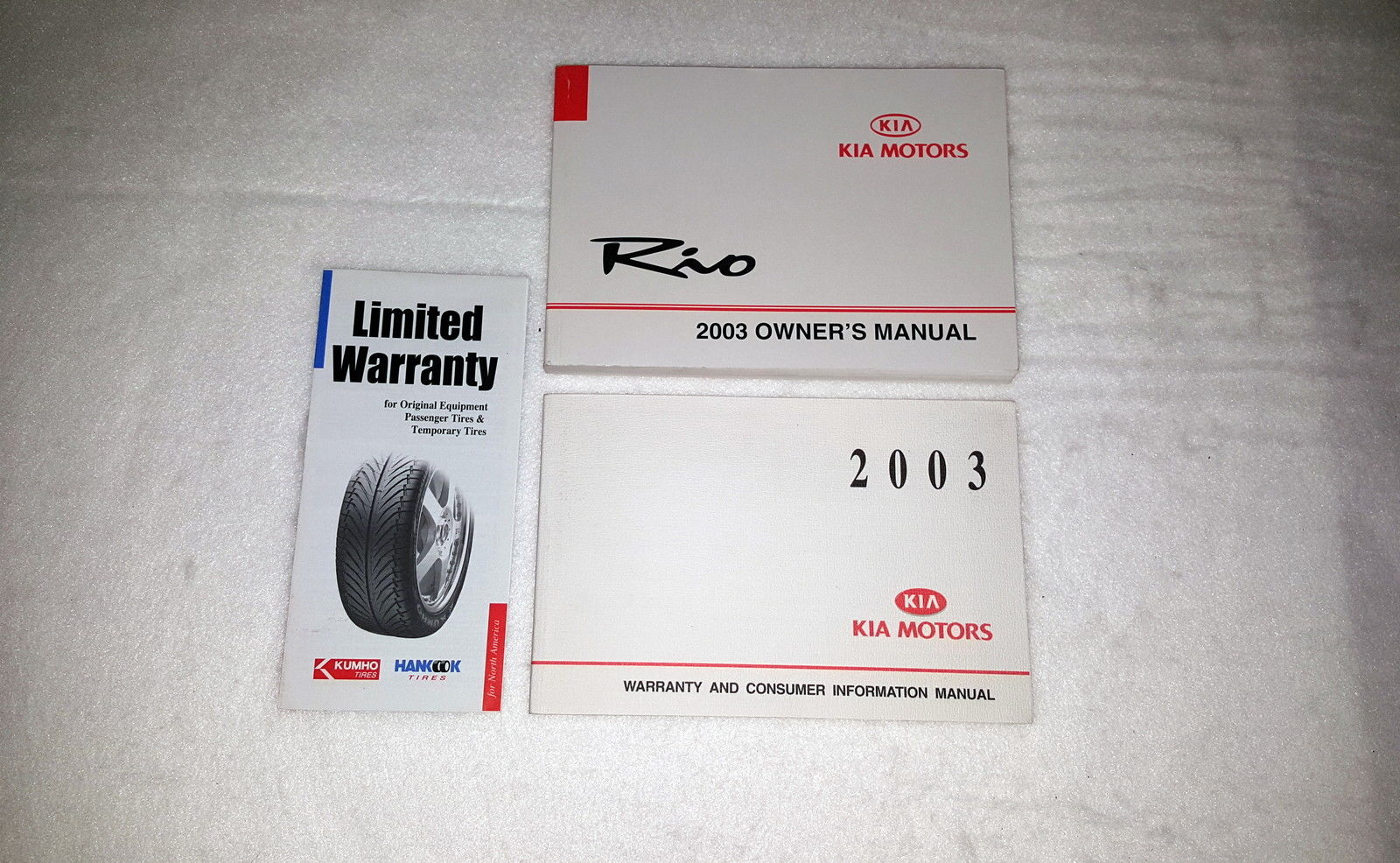 2003 Kia Rio Owners Manual 00123 - $18.76