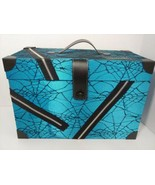 Monster High blue spider web zipper doll storage carry case trunk Toys R... - $29.69