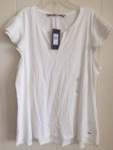 NWT Tommy Hilfiger Women's Blouse Tunic Top Whi... - $28.04