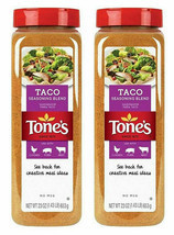 Tone's Taco Seasoning 23 oz ea. Delicious Kosher Blend of Chili Peppers ... - $32.62