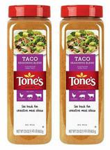 Tone's Taco Seasoning 23 oz ea. Delicious Kosher Blend of Chili Peppers 2 PK - $32.62