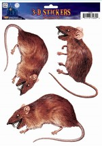 Window Sticker 3D Rat, Halloween Party Accessory Prop/Room Decoration - $2.46