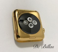24 Karat Gold Plated 42MM Apple Watch Series 2 Stainless Steel Custom Body - $610.02
