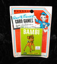 Disney Card Games By Russell MOC Vintage New Bambi - $19.99
