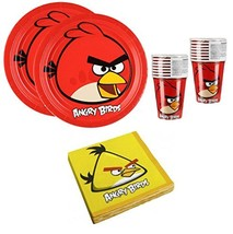 Angry Birds Birthday Party Supplies Set Plates Napkins Cups Kit for 16 - $47.00