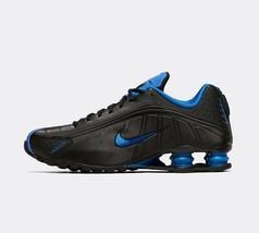 Nike Shox R4 Herren Schwarz / Königsblau Lederschuhe Turnschuhe - $260.95