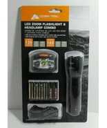 Ozark Trail LED Flashlight & Headlamp Combo 130 Lumens in sealed package - $9.79