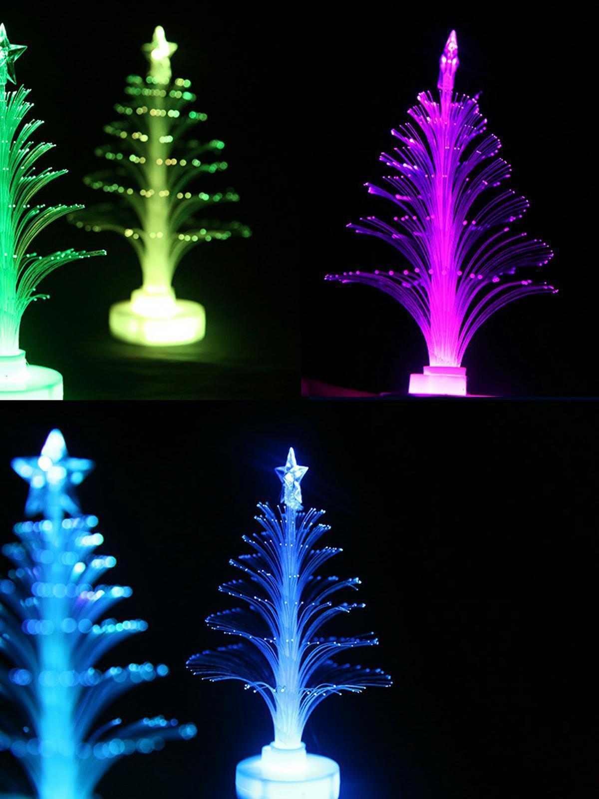 Christmas Fiber Led Optic Light Lamp Changing Color Xmas Tree Decor Ornament New