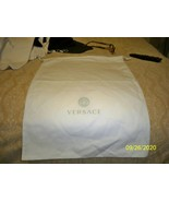 "Versace White Drawstring Storage Shoes Boot Purse Dust Bag (16.75"" x 12"") - $23.75"