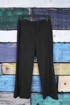 Ann Taylor Sz 4 Gray Virgin Wool Spandex Stretch Margo Wide Leg Dress Pa... - $13.99