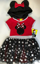 Girls Minnie Mouse Sequin Costume Dress Up Pretend Play Cosplay Park Outfit 6 6X - $14.84
