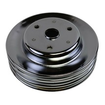 Crankshaft Pulley Triple-Groove LWP Long Water Pump For Chevy SBC 262 283 400 image 2