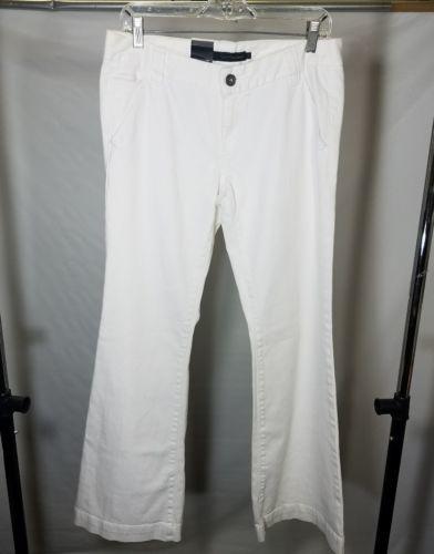 CALVIN KLEIN WOMEN'S WHITE PANTS BOOTCUT JEANS SIZE 10 X 33 MSRP $79.50 RN 36009