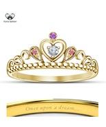 Yellow Gold Plated 925 Silver Women's Disney Princess Pretty Rapunzel Cr... - £34.77 GBP