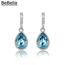 BeBella crystal water drop dangler earrings with Swarovski Elements for ... - $19.29