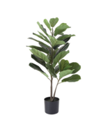 Faux Fiddle Leaf Fig Plant in a Black Pot - $123.75