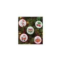 Bucilla 86672 2.5 in. Round Christmas Minis Ornaments Counted Cross Stit... - $31.99