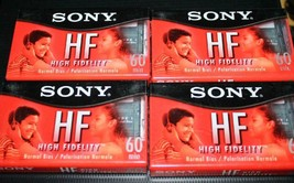 Sony High Fidelity Blank Cassette Tapes Lot Of 4 Sealed 60 Minute Cassettes - $14.99
