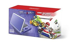 Nintendo 2DS XL - Purple + Silver With Mario Kart 7 Pre-installed - Nint... - $159.22