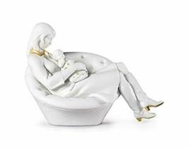 LLADRÓ Feels Like Heaven Mother Figurine. Golden Lustre and White. Porcelain - $1,242.99