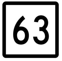 Connecticut State Highway 63 Sticker Decal R5093 Highway Route Sign - $1.45+
