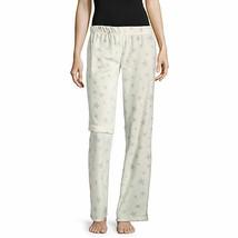 NWT Womens cream stars Fleece Sleep lounge Pants Plaid Pajama Bottoms jr... - $14.84