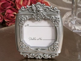 100 Silver Angel Place Card Photo Frame Baptism Baby Shower Bridal Weddi... - €94,85 EUR