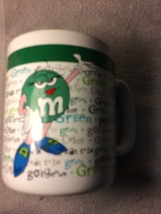 M&M's GREEN COFFEE MUG--EXTRA LARGE--GREAT TO BE GREEN----FREE SHIP--VGC - $19.78