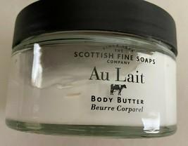SCOTTISH FINE SOAPS CO. AU LAIT BODY BUTTER 7OZ GLASS JAR  NEW - $14.84