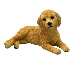 GOLDENDOODLE DOG Figurine Statue Hand Painted Resin Gift Pet Lovers - $17.25