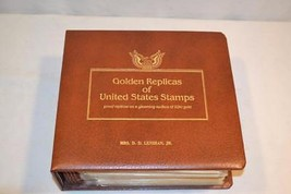 22K Gold replica First Day Cover Stamp Set w Binder 1983 - 1984   40 Sets - $50.00