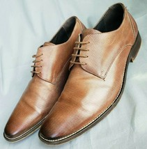 Kenneth Cole 16088 Men's Brown Pinstripe Leather Dress Business Lace Up ... - $49.49