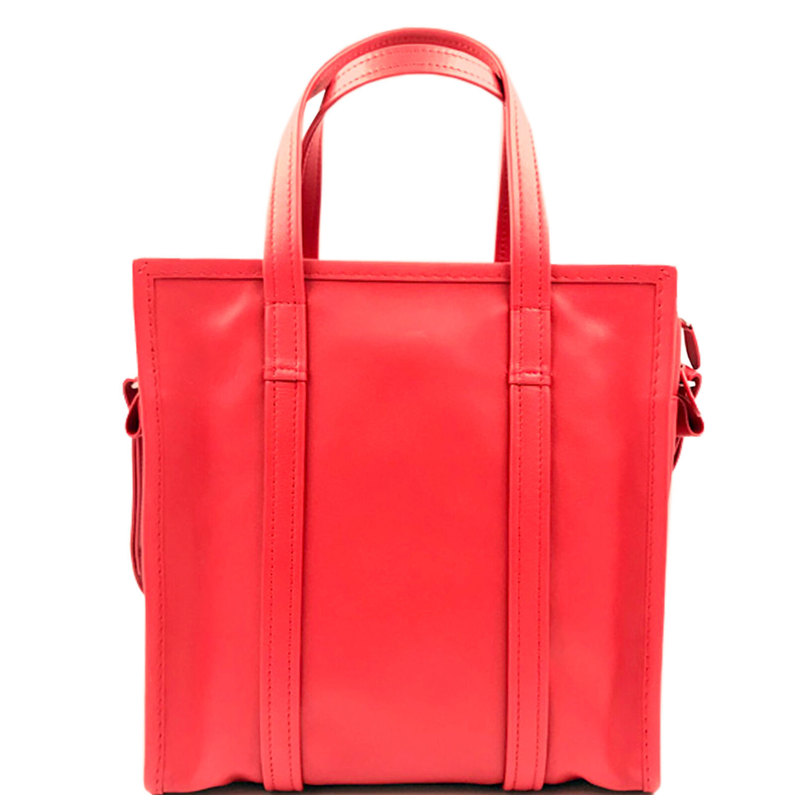 Primary image for Balenciaga Bazar Shopper Small Size Red Leather Ladies Messanger Bag 443096
