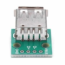 Akozon 10Pcs USB Type A Female Socket Breakout Board 2.54mm Pitch Adapter Connec