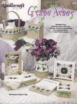 Grape Arbor, Plastic Canvas Pattern Booklet TNS 983065 Clock Vase & More... - $2.95