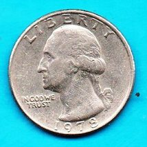 1978 P Washington Quarter - moderate wear - $1.25