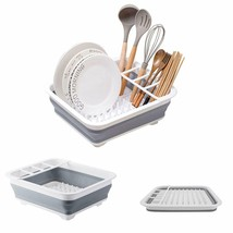 OUSGAR Collapsible Dish Drainer Retractable Foldable Dish Drying Rack St... - $16.82