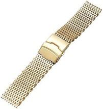 YISUYA Golden 22mm Band Stainless Steel Mesh Web Wrist Watch Band Strap Gold - $27.89