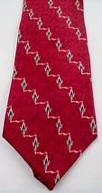 Bill Blass Black Label 100% Silk Tie Necktie Belle Epoque Red Heartbeat USA Made - $8.86