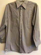Van Heusen Men's Dress Shirt 16.5 32/33 Long Sleeve Button Down Dark Beige - $7.99