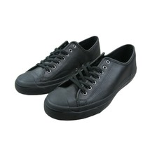 Converse JP Jack Purcell OX Leather Shoes Triple Black 162596C Mens Size - £43.42 GBP