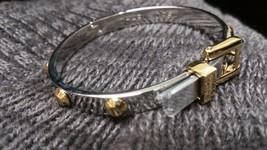 Michael Kors Multi Stainless Heritage ASTOR Buckle Studded Bangle Bracelet - $71.52