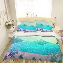 3D Blue Paint Hills 26 Bed Pillowcases Quilt Duvet Single Queen King US Lemon - $102.84+